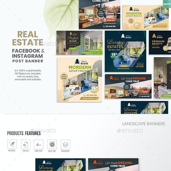 10 Social Media Banners-Real Estate