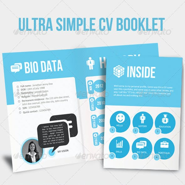 Ultra Simple Yet Professional CV Booklet