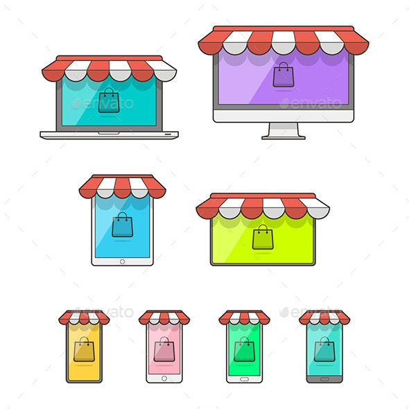 Online Shop Store Devices - Retail Commercial / Shopping