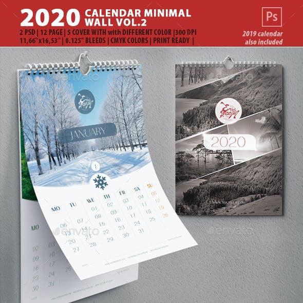 2020 Wall Calendar Minimal Vol.2