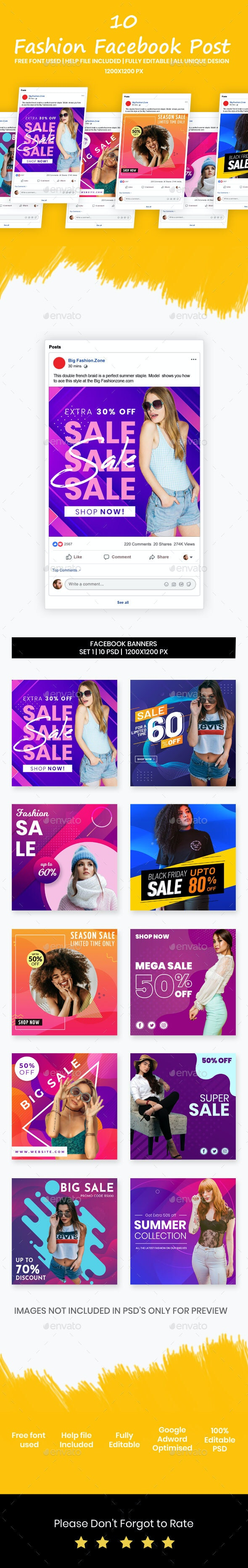Fashion Facebook Post | Fashion Facebook Banner - Banners & Ads Web Elements
