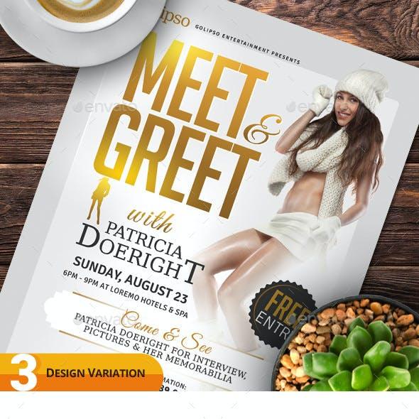Meet & Greet Flyer Templates
