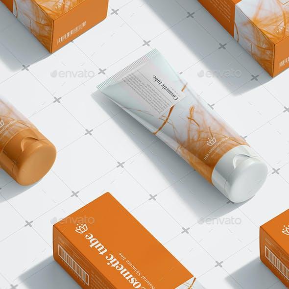 Cosmetic Tube mock up
