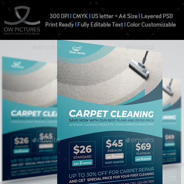 Carpet Cleaning Services Flyer Template