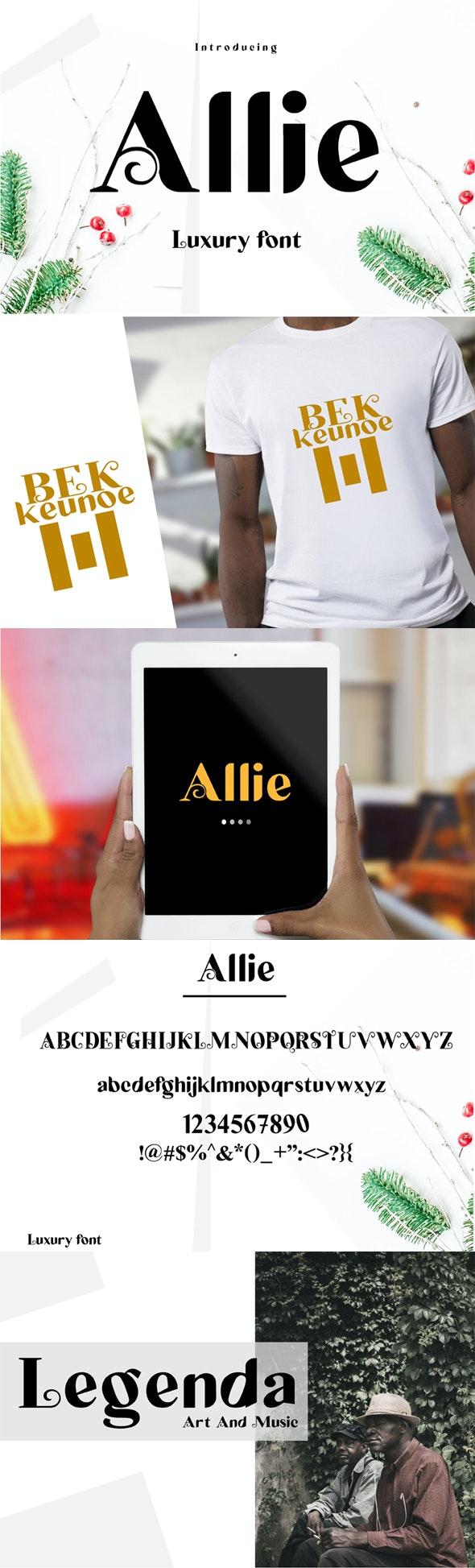 Allie - Sans-Serif Fonts