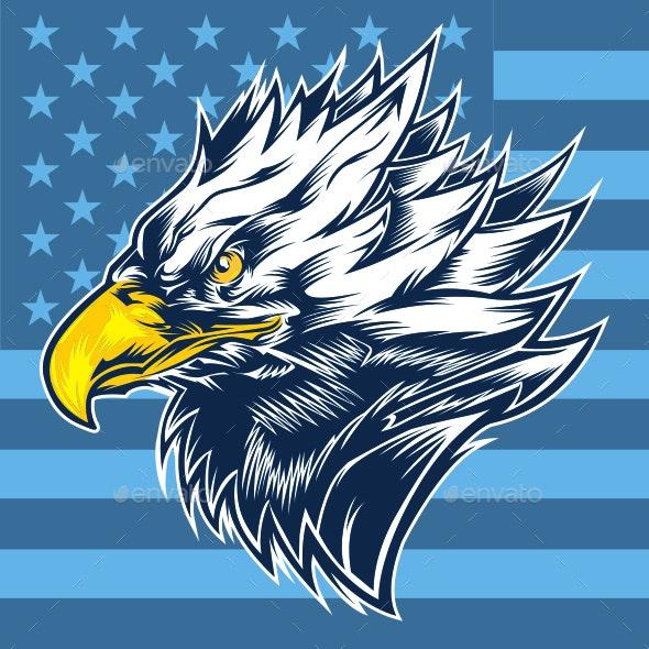 Eagle USA Mascot - Animals Characters