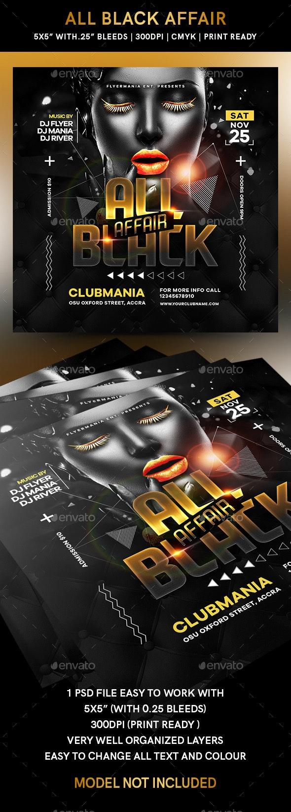 All Black Affair Flyer - Flyers Print Templates
