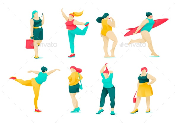 Obese Women - People Characters