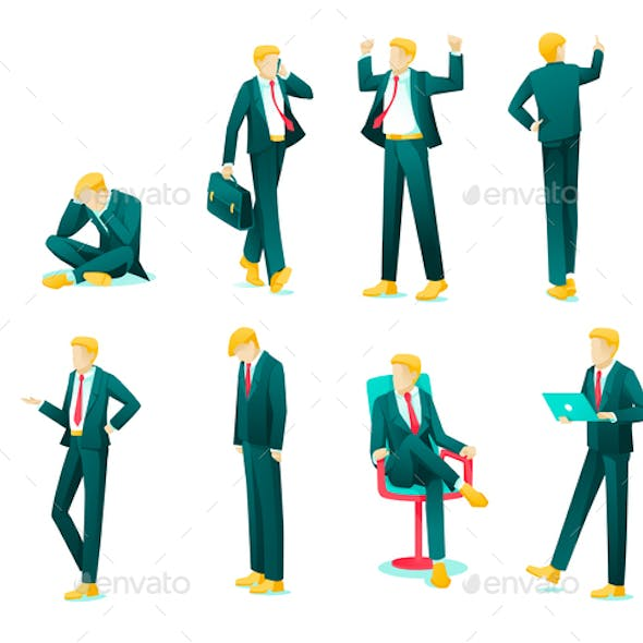 Banner Collection Emotions Business Person Flat