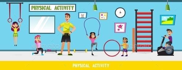 Physical Education Lesson at School with Children - Sports/Activity Conceptual