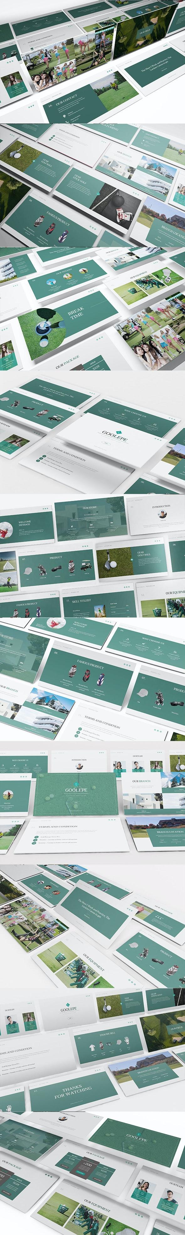 Golf Keynote Presentation Template - Keynote Templates Presentation Templates