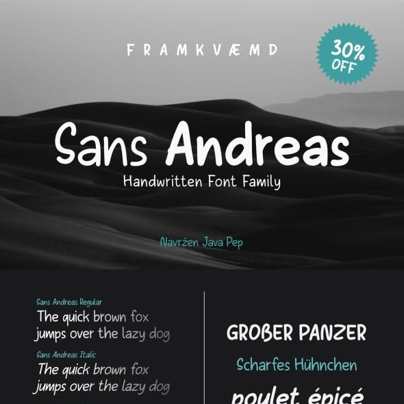 Sans Andreas // Handwritten family