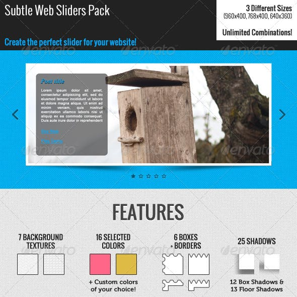 Subtle Web Sliders Pack