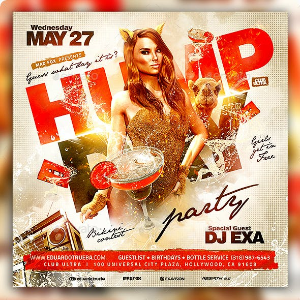 Wednesday Hump Day Party Flyer