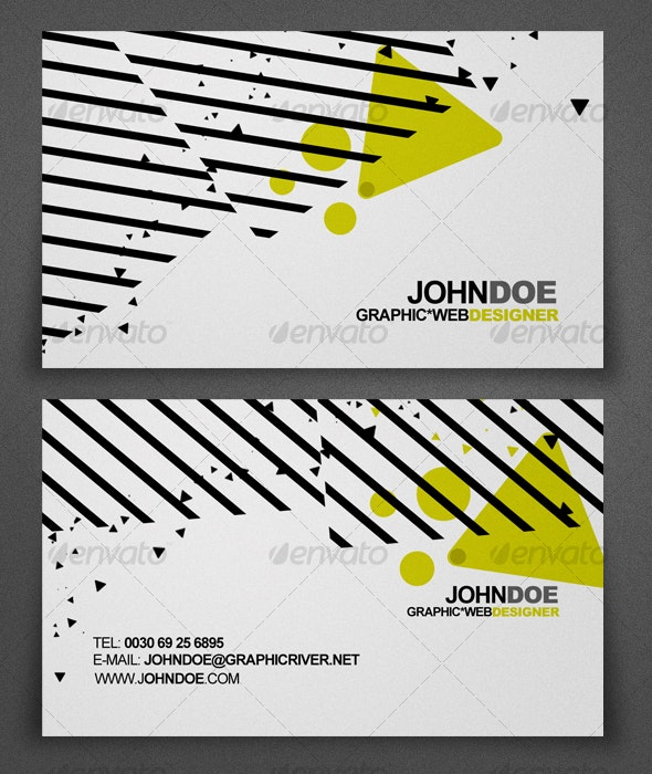 Abstract Design Business Card - Creative Business Cards