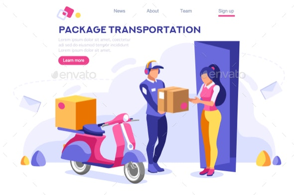 Mail Office Page Hero Images - Miscellaneous Vectors