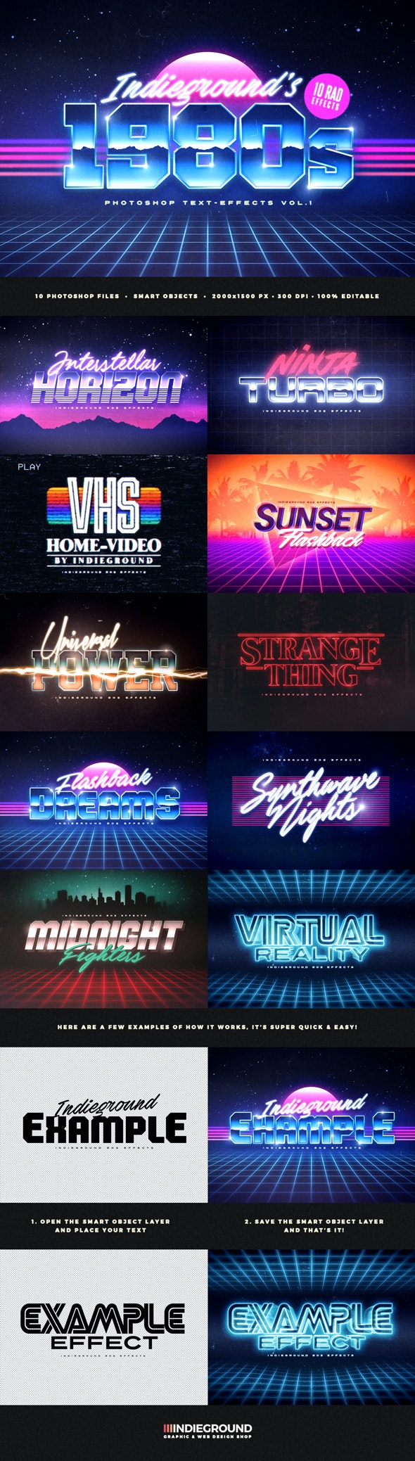 80s Text Effects - Text Effects Actions