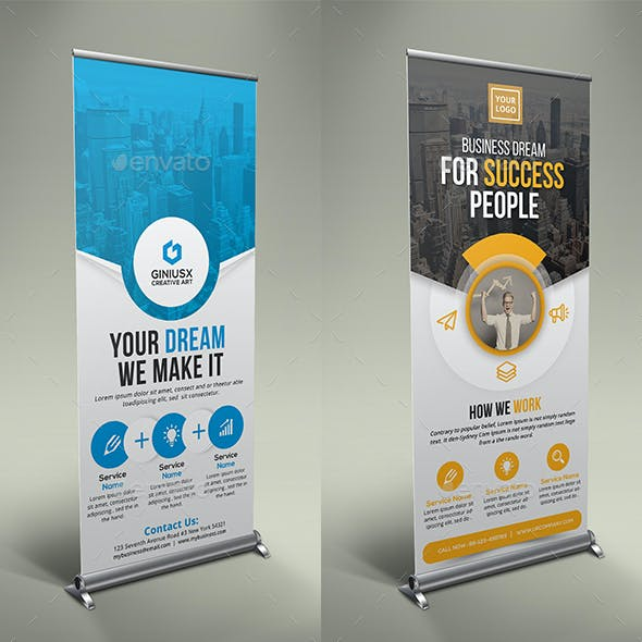 2in1 Business Rollup Banner Bundle