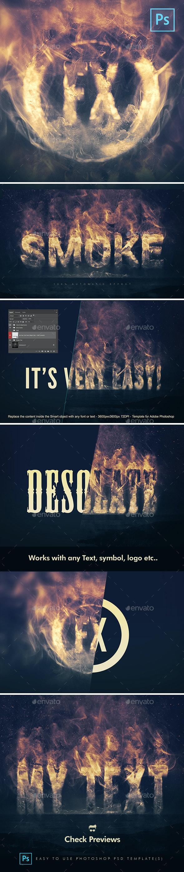 Smoke Logo Text Effect - Tech / Futuristic Photo Templates