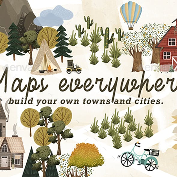 Maps Everywhere map creator clip art
