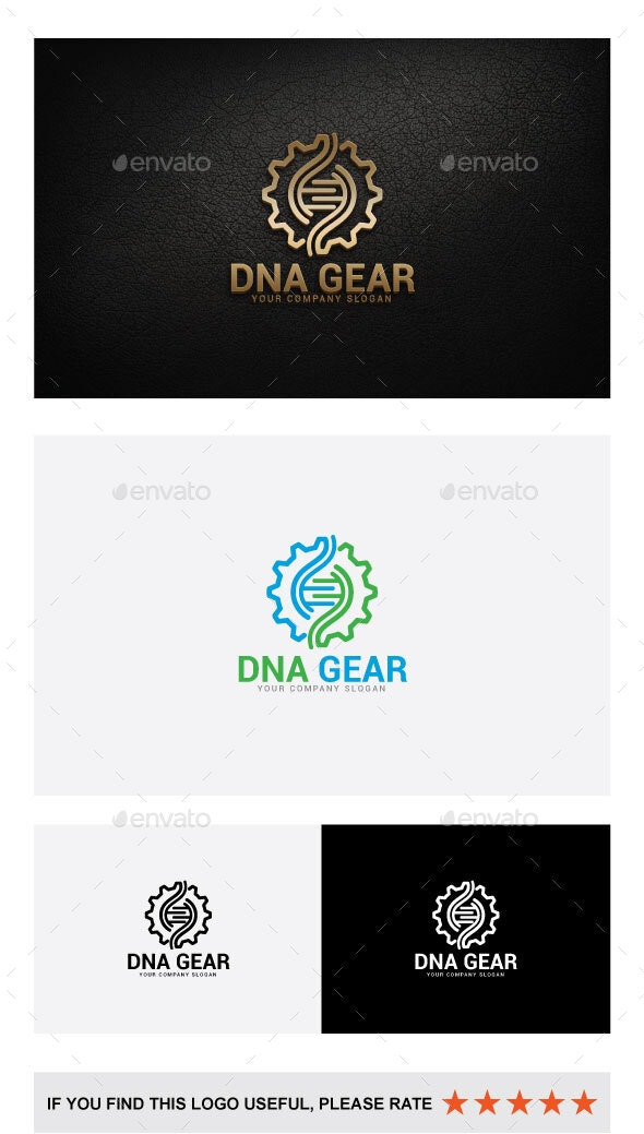 DNA GEAR LOGO - Abstract Logo Templates