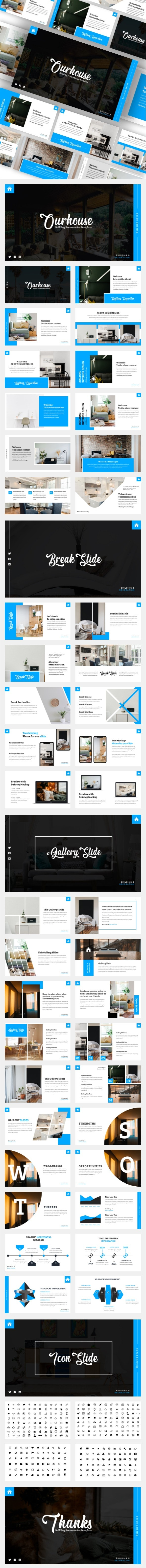 Ourhouse – Furniture & Home Decoration Keynote Template - Business Keynote Templates