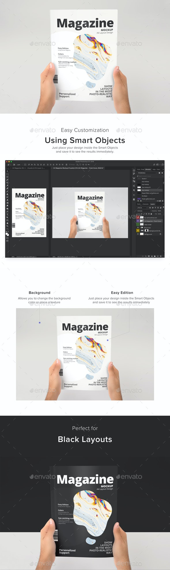 A4 Magazine Mockup 07 - Magazines Print
