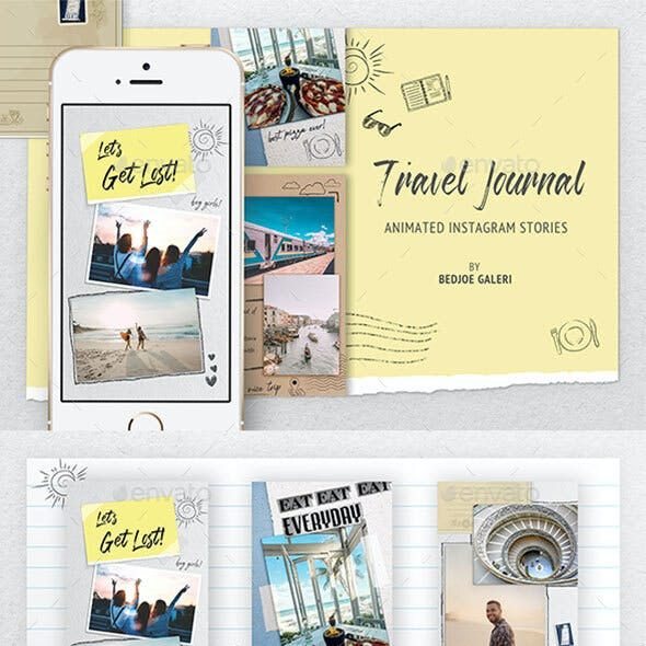 Travel Journal Animated Instagram Story