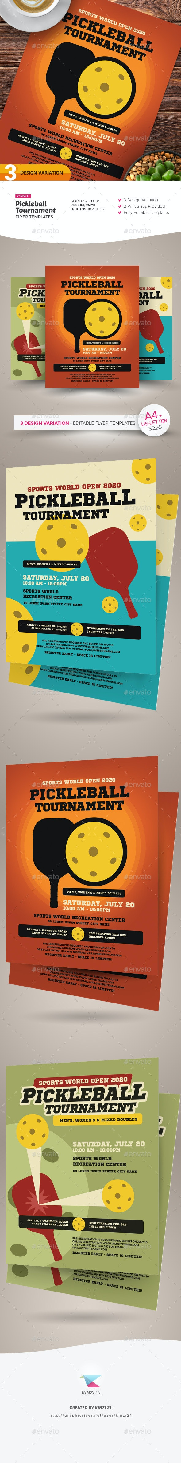 Pickleball Tournament Flyer Templates - Sports Events