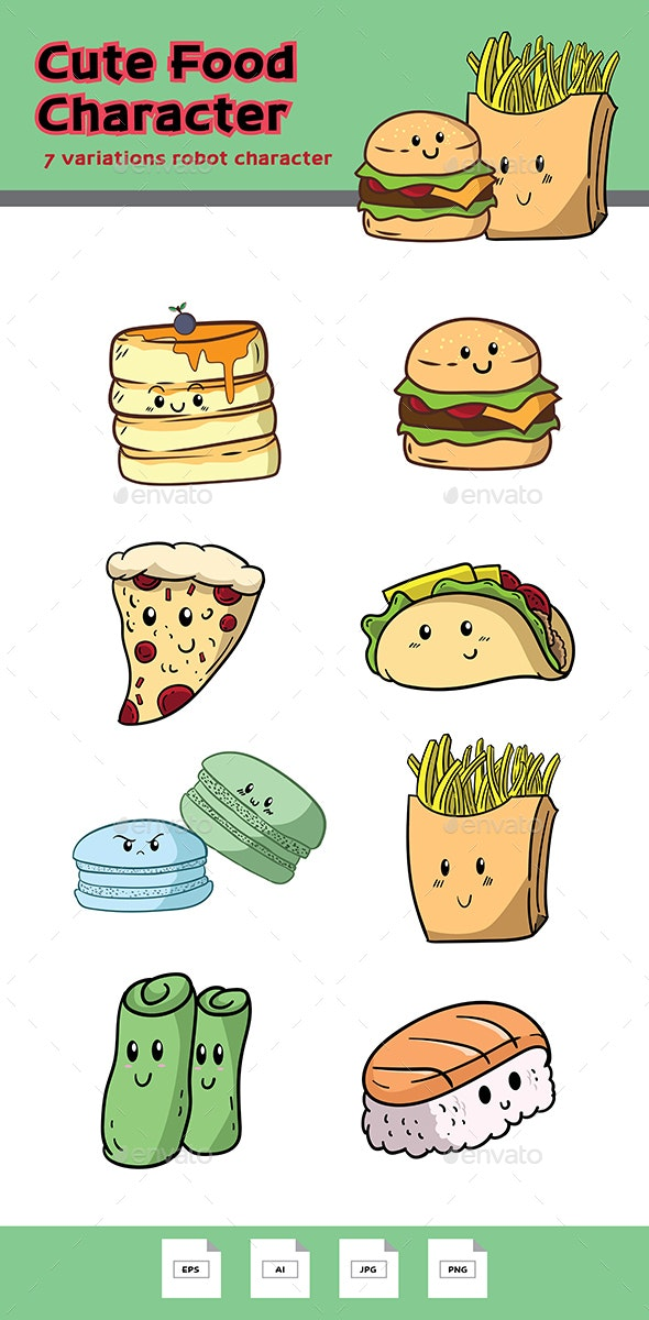Food Characters - Food Objects