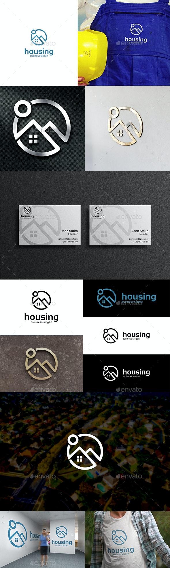 Housing Real Estate Logo Home or House Symbol - Buildings Logo Templates