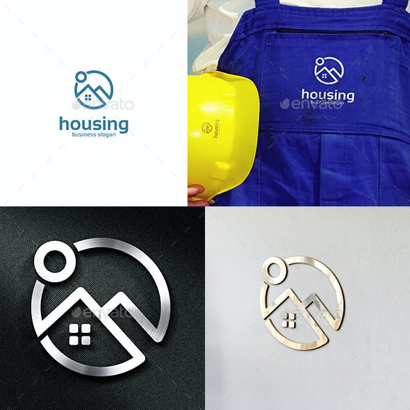 Housing Real Estate Logo Home or House Symbol