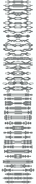 A Set of HUD Elements - Decorative Symbols Decorative