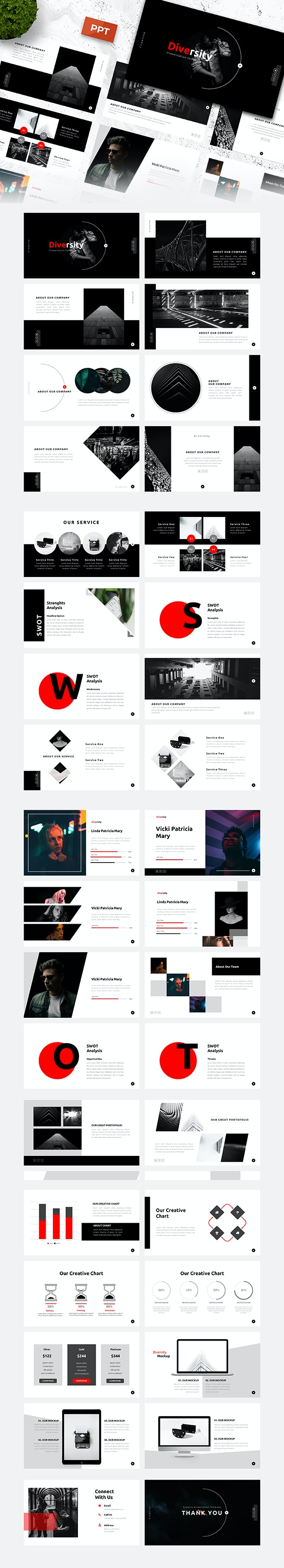 Diversity Creative Power Point Template By Yossy1