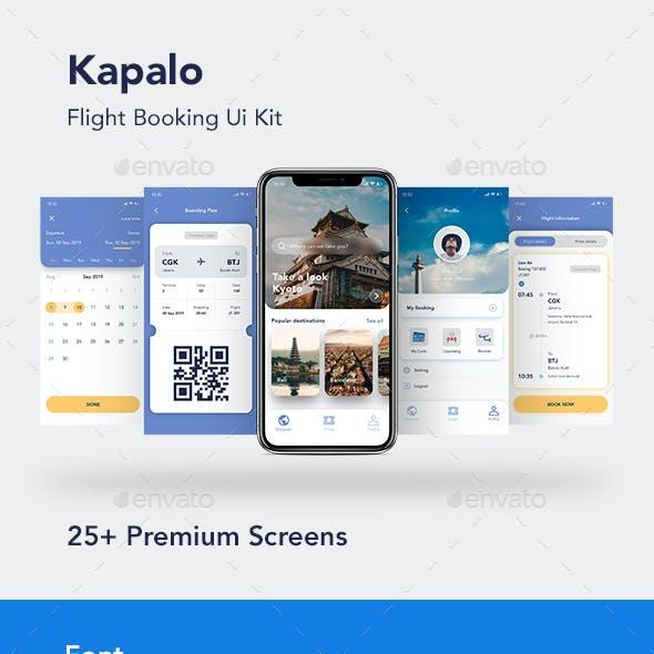Flight Booking App Ui Kit Mobile Template