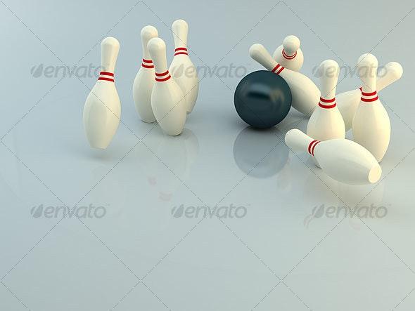 Bowling strike - Objects 3D Renders