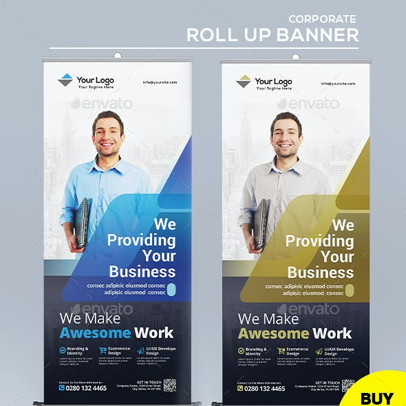 Corporate Roll Up Banner