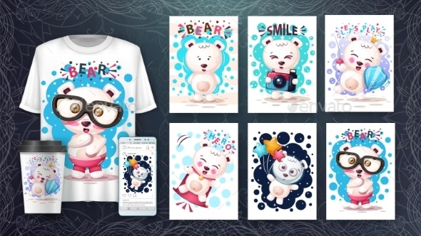 Bear Poster and Merchandising - Animals Characters