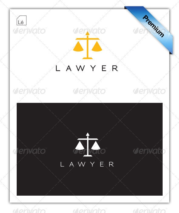 Legal Lawyer Law-Firm Justice Logo - Objects Logo Templates