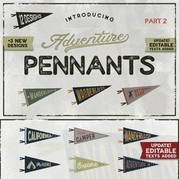 Vintage Pennants Set | Part 2