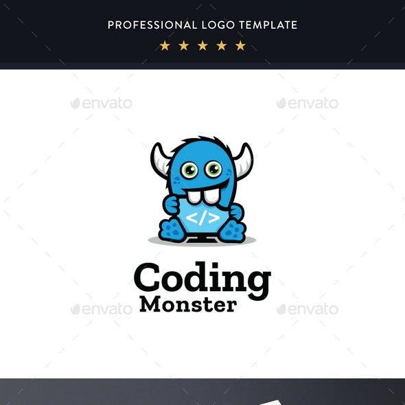 Coding Monster Logo Template