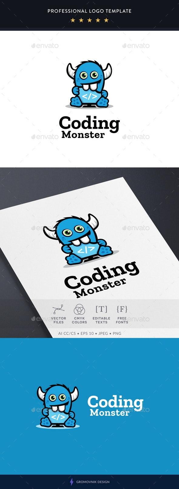 Coding Monster Logo Template - Abstract Logo Templates