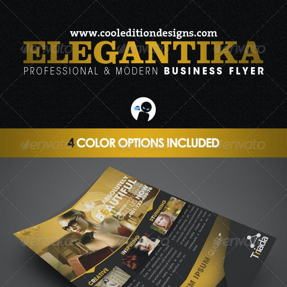 Elegantika - Professional & Modern Business Flyer