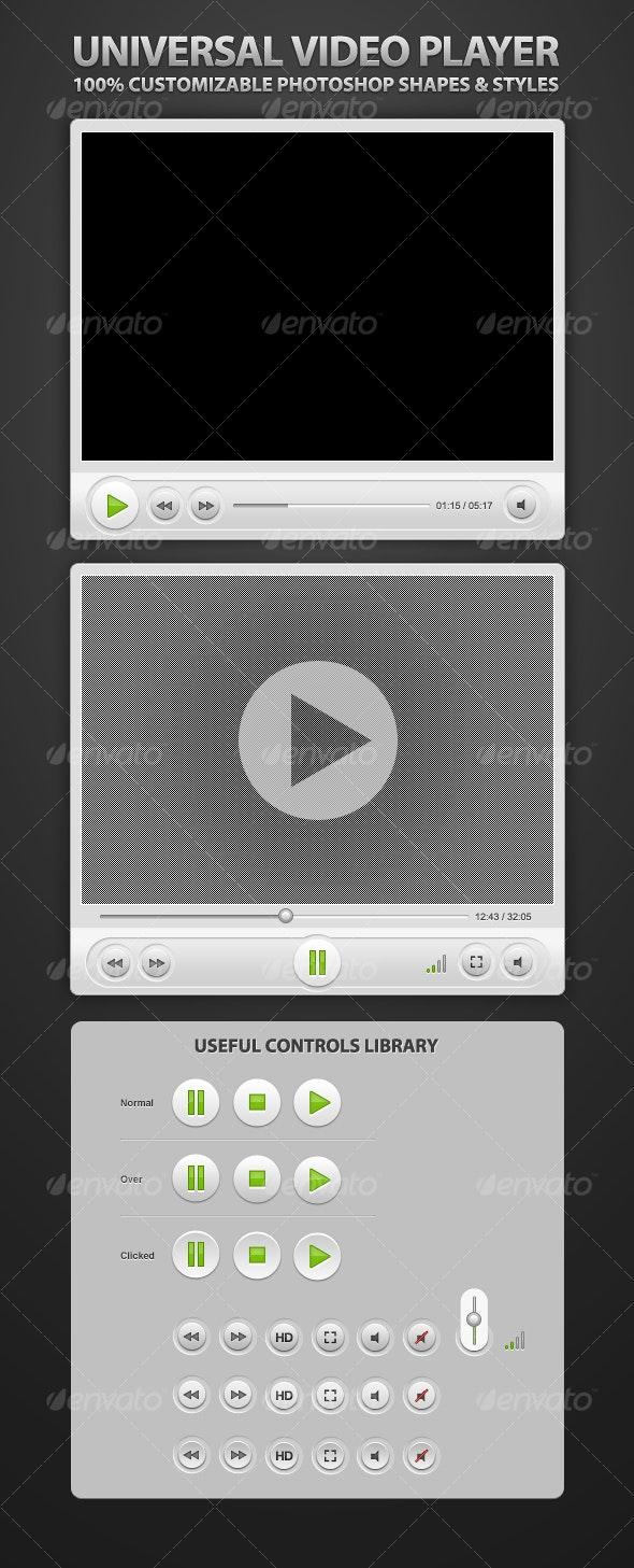 Super Clean Universal Video Player - Miscellaneous Web Elements