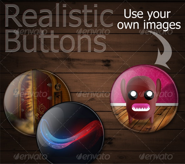 Realistic buttons/ pins - Miscellaneous Graphics