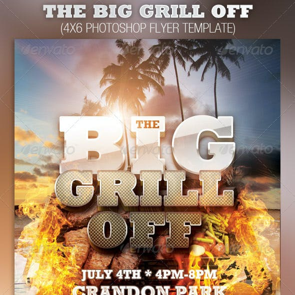The Big Grill Off Flyer Template