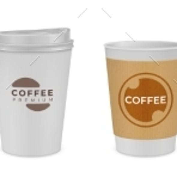Realistic Paper Coffee Cup