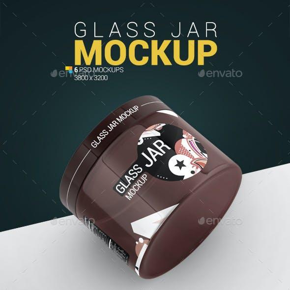 Glass Jar Mockup