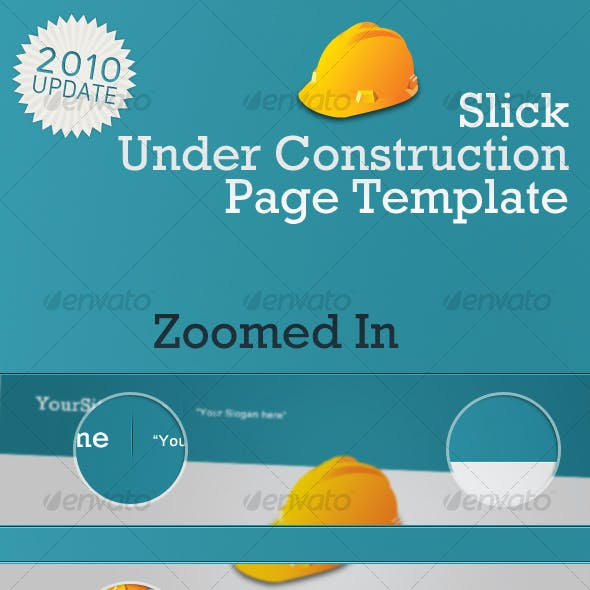Slick Under Construction Page Template