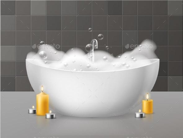 Bath with Foam - Man-made Objects Objects